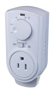 Plug-in Thermostat for Portable Heaters and Air Conditioners