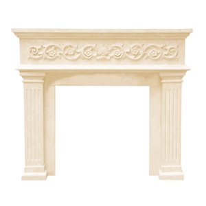 Michael Angelo Fireplace Mantel - Ivory