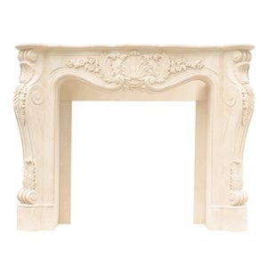 Louis Fireplace Mantel - Ivory