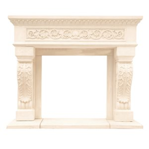 Chateau King Henry Fireplace Mantel - Ivory