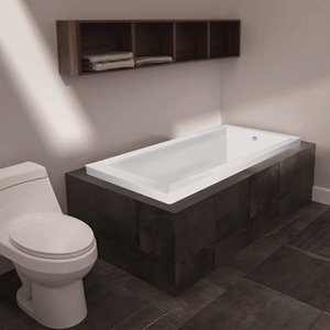 Jade Bath Moderno Podium or Drop-In Tub - White - 60