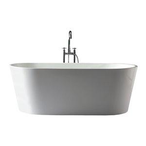 Baignoire autoportante Aura de Jade Bath, blanc, 67