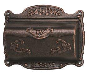 Boîte aux lettres murale, bronze