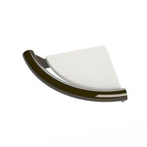 Tablette en coin Invisia, bronze huilé