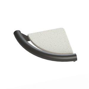 Tablette en coin Invisia, noir mat