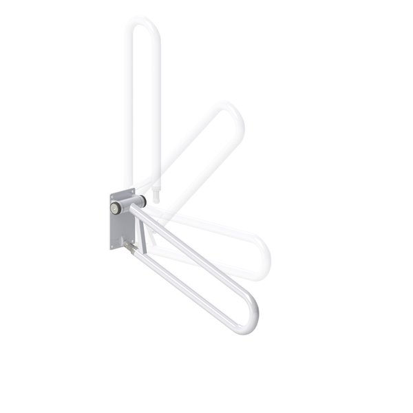 HealthCraft Products P.T. Rail™ 32-In White Angled Safety Rail