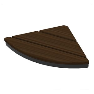 Invisia Corner Seat - Matte Black - Walnut Finish