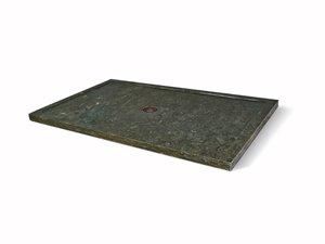 Base de douche Unik Stone, pierre calcaire, 36