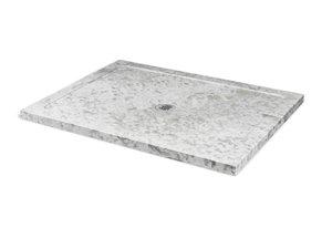 Base de douche Unik Stone, marbre gris, 36