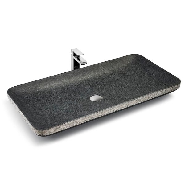 Unik Stone Vessel Sink - Granite - 31-in