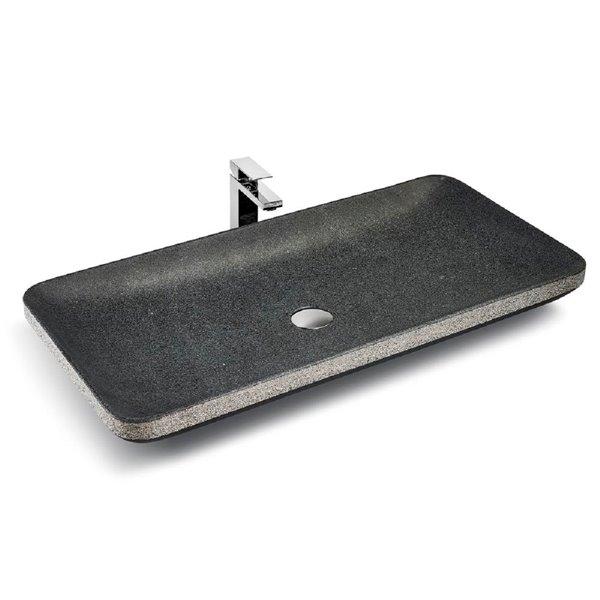Vasque de pierre Unik Stone, granite, 31 po