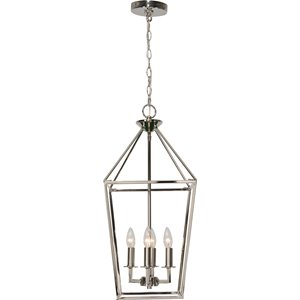 Wentbridge 4-Ligh Pendant - Polished Nickel