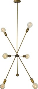 Leonis Pendant - 6 Lights - Antique Brass