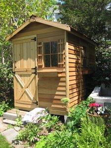 Gardener Storage Shed - 6' x 9' - Cedar