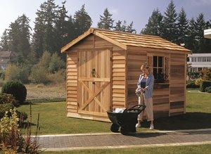 Rancher Storage Shed - 8' x 16' - Cedar