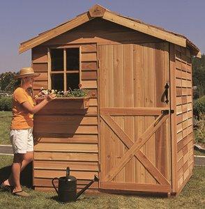 Gardener Storage Shed - 8' x 16' - Cedar