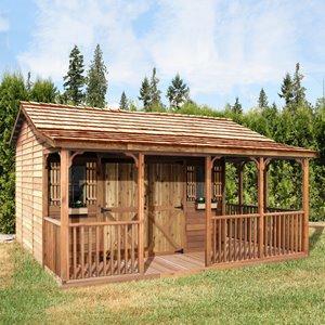 FarmHouse Storage Shed - 16' x 12' - Cedar