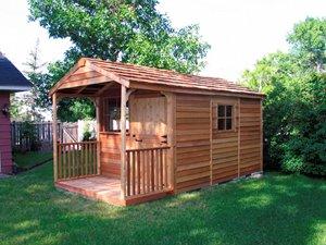 Clubhouse Storage Shed - 8' x 16' - Cedar