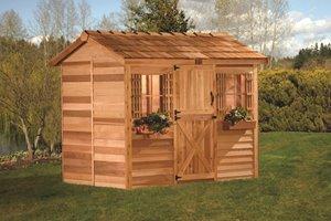 Cabana Storage Shed - 12' x 8' - Cedar