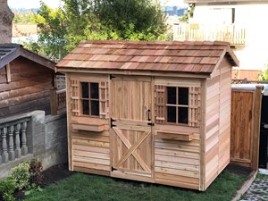 Cabana Storage Shed - 9' x 6' - Cedar