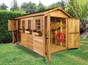 BoatHouse Storage Shed - 8' x 16' - Cedar