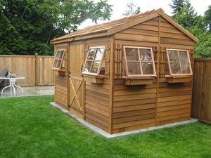 BeachHouse Storage Shed - 9' x 6' - Cedar