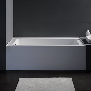 Jade Bath Zen White Alcove Tub Right Drain - 66