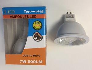 Ampoule DEL - MR16 - 7 W - 3000 K - paquet de 10