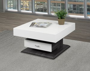 Coffee Table with Lift Top and Storage Drawer - White
