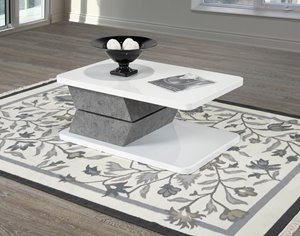Rotating Coffee Table, White