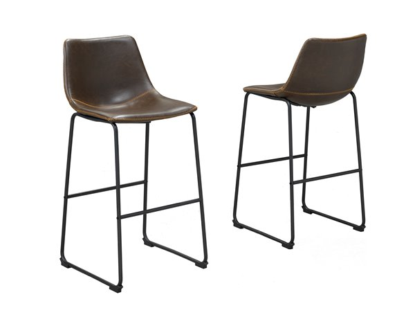 Brassex Acasia Bar Stools 2 Pieces Brown Hy 7163 Br Rona