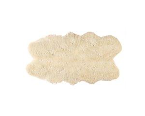 Tapis Quattro en peau de mouton ,4'x 6', or