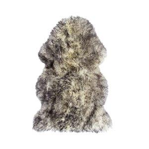 Tapis en peau de mouton ,2'x 3', gris
