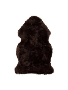 Tapis en peau de mouton ,2'x 3', chocolat