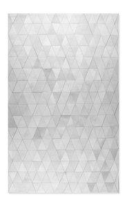 Tapis Mosaique en peau de vache, 8'x 10', gris