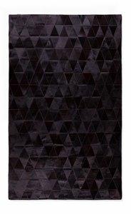 Mosaik Natural Stitched Cowhide Rug 5' X 8' - Black