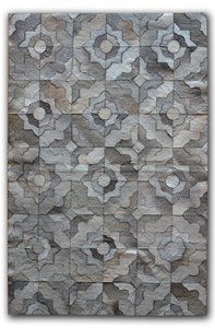 Marakeche Natural Stitched Cowhide Rug - 8'x10' - Gray