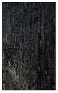 Tapis Madrid en peau de vache, 5' x 8', noir