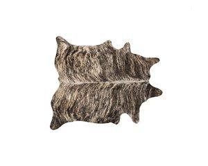 Tapis kobe en peau de vache, 5' x 7', zebre exotique