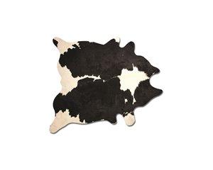 Tapis kobe en peau de vache, 5' x 7', noir/blanc