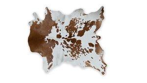 Calfskin Rug - 2'x 3'- Brown/White