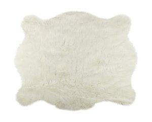 Tapis en fausse en peau de vache , 5,25' x 7,5', blanc