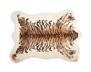Tapis en fausse en peau de vache , 5,25' x 7,5', tigre