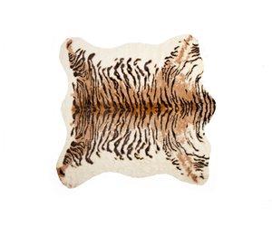 Tapis en fausse en peau de vache , 4,25' x 5', tigre