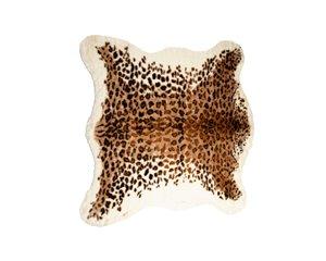 Tapis en fausse en peau de vache , 4,25' x 5', leopard