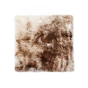 Couverture de chaise peau de mouton , 1/pqt, chocolat
