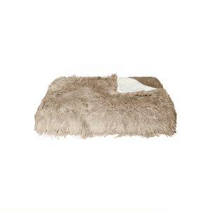 Mongolian Sheepskin Faux Fur Throw - - 50