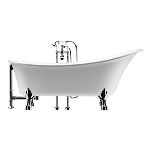 Dorya Freestanding Bathtub with Clawfoot - 69