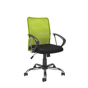 CorLiving Office Chair with Contoured Lime Green Mesh Back
