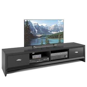 Meuble de télé Lakewood extra-large, fini en bois noir